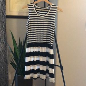 NWT French Connection Black & White Striped Dress
